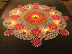 Kolam rangoli designs are made in South India. They are pretty, intricate patterns made duing festivals. Make kolam rangoli designs for Ugadi and Pongal. Indian Rangoli Designs, Rangoli Designs Latest, Latest Rangoli, Rangoli Designs Flower, Small Rangoli Design, Colorful Rangoli Designs, Flower Rangoli, Beautiful Rangoli Designs, Kolam Designs