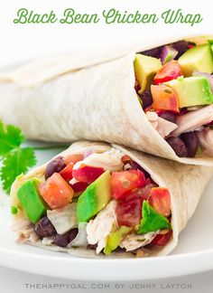 Black Bean Chicken Wraps PLUS 3 more quick and easy, kid-friendly dinner ideas to keep your family eating healthy on the go!