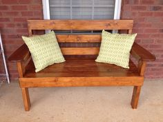 Outdoor Bench http://www.greatsouthernwood.com/GSWPCMS/uploadedFiles/YW_Garden_Bench.pdf