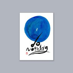 "Zen Enso Calligraphy ""Do Nothing"" Zen Sumi-e Ink Painting, japan scroll, zen decor, inspirational art, feng shui, tea ceremony tao, enso by ZenBrush"