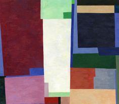 """Doug Ashford: Two Pools, 2007 (Tempera on wood, 14"""" x 14"""")"""
