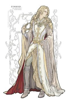 "Finrod the Wise of Nargothrond, epessë Felagund. ""Finrod Finarfin's son, fairest of all the princes of the Elves"" Art by ChoiStar on weibo.com"