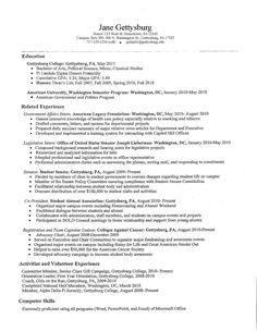 Examples Of College Student Resumes  Inspiration