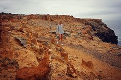 Strolling through the moon like landscape of the petrified forest