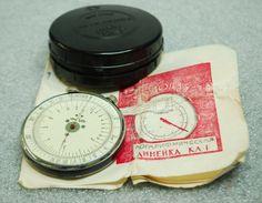 Vintage Russian USSR Engineer Logarithmic Mathematical Circular Slide Rule KL-1