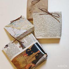 Comment réutiliser du papier pour faire ses paquets cadeaux ? Il vous faudra : du papier, du scotch, des ciseaux et du fil. Pochette Diy, Gift Packaging, Diy Christmas Gifts, Scotch, Diy Gifts, Recycling, Gift Wrapping, Stuff Stuff, Gift Wrapping Paper