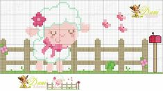 This Pin was discovered by Hul Sheep Cross Stitch, Butterfly Cross Stitch, Cross Stitch Animals, Cross Stitch Charts, Cross Stitch Patterns, Learn Embroidery, Cross Stitch Embroidery, Embroidery Patterns, Animal Crackers