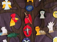 Felt Jesus tree (Catholic lenten idea)