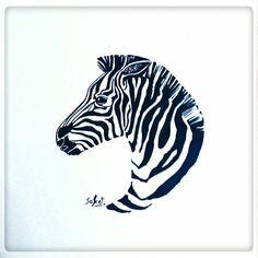 zebra drawing drawings visit simple profile easy cool nice