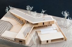 Its like an inversion of Yunha's 203L final. Also at a much, much smaller scale. I really like the materials of the main structure and how the interior space of one leg spills on the roof terrace of the other lower leg.