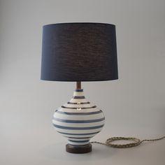 Lafayette Lamp - Navy Stripe | Table + Floor Lamps | Lighting