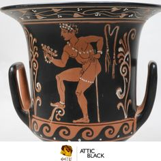 ATTIC BLACK features iconic, handmade pottery showcasing the Grecian heritage & culture. Handmade Pottery, Attic, Ceramics, Mugs, Tableware, Black, Decor, Loft Room, Ceramica