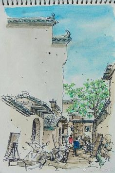 via TW by Anhui Travel China Art, Travel, Painting, Viajes, Painting Art, Destinations, Paintings, Traveling, Trips