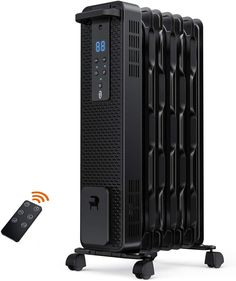 Space Heater, TaoTronics 1500W Oil Filled Radiator Heaters with 3 Heating Mode, 24-Hrs Timer for Auto-On & Off, Remote Control, Tip-over Protection Electric Portable Heater for Indoor Use Home Office Coffee Storage Containers, Best Space Heater, Oil Filled Radiator, Filter, Radiator Heater, Portable Heater, Safe Glass, Glass Teapot, Tecnologia