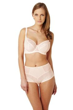 Blush Full Cup Underwired Lace Trimmmed Balcony Bra By Panache