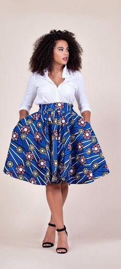 38 Ideas fashion african skirts high waist ankara styles for 2019 Ankara Dresses African Fashion Ankara, African Inspired Fashion, African Print Fashion, African Wear, African Attire, Nigerian Fashion, Ghanaian Fashion, African Style, Nigerian Lace