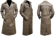 """For Our Valued Male Customers. """"Top Leather Factory"""" Present's Batman Knightmare Beige Leather Trench Coat. Made from Real Leather. This Batman Trench Coat was worn in a desert scene in Batman v Superman: Dawn of Justice. Ben Affleck, who plays the role of Batman, wore it as his desert costume in the film.The long outline standpoint of this coat settled on it and perfect decision for the cool season.  #benaffleck #batman #movies #lovers #fans #sexy #stylish #costume #amazing  #shopping…"""