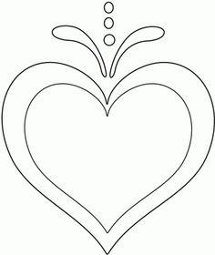 Dibujo de Corazón para pintar, imprimir y colorear.