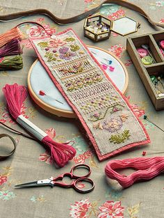 Beautiful needle roll from Cross Stitch Collection magazine issue 260, April 2016 #Embroidery #NeedleBook #StitchedRoll