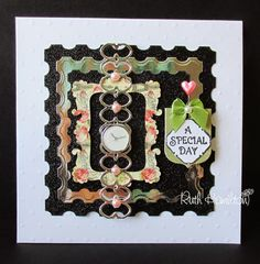 """A Passion For Cards: TRIMCRAFT Project - mixing die sets to make """"watches"""""""