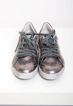Primabase Sneaker silber/gold/ oranger Streifen