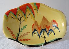 Carlton Ware AUTUMN TREE & FERNS 3517REVO tray