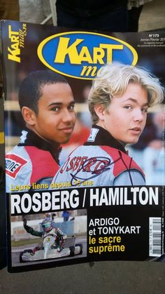 The fastest dudes in Formula 1... back when they were 15 (Lewis Hamilton and Nico Rosberg- Petronas Mercedes)