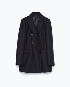 ZARA - AW.14 - BUTTONED DOUBLE-BREASTED COAT