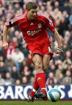 The one and only Stevie G! Liverpool Football Club, Liverpool Fc, Gerrard Liverpool, Stevie G, Adidas Predator, Steven Gerrard, Football Boots, Soccer, Baseball Cards