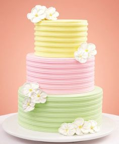 This year, wedding cakes are all about texture…molded accents, piping, patterns and more.