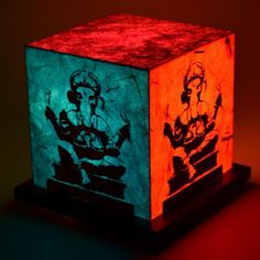 Shady Ideas Pop Art Ganesh Table Lamp,Decorative Lamps-Table-Lamps