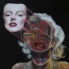 Gory Anatomical Portraits Show Beloved Icons' Blood and Guts | The Creators Project