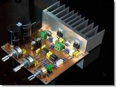 A lot sound system used in the quality of an amplifier IC circuit two used this integrated shape and leg connections is the same amp Subwoofer Box Design, Subwoofer Speaker, Stereo Amplifier, Hobby Electronics, Electronics Projects, Low Voltage Transformer, Power Supply Circuit, Simple Circuit, Electronic Shop