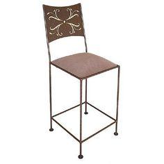 "Grace Wheat 18"" Bar Stool Upholstery: Crispin Plaid, Base Finish: Burnished Copper"