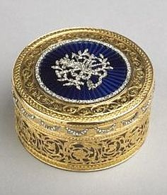 Antique Vintage snuff box. Rock crystal, gold, enamel and diamonds, chased and engraved Pierre François Mathias de Beaulieu (active between: 1768-99) Paris, France 1771 - 1772