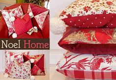 Noel Home: A Trio of Pillow Pleasures: Tufted, Triangled and Down-Filled with Poms