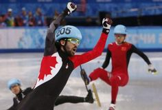 Speed skating is one of those Olympic sports that I watch strictly to see somebody endo and hit the wall or another skater at high speeds. It's glorious! I mean, not for the guy who trained for 4 years just to eat crap on live TV and let his coach, family and country. It's probably a bad move for him.