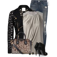 Distressed Jeans!, created by pinkroseten on Polyvore