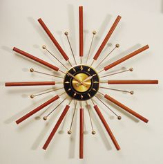 Atomic sunburst clock.