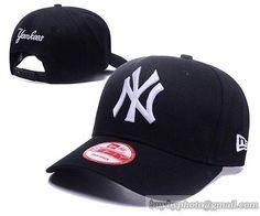 Cheap Wholesale MLB Baseball Caps NY New york yankees Hats Black/White for slae at US$8.90 #snapbackhats #snapbacks #hiphop #popular #hiphocap #sportscaps #fashioncaps #baseballcap