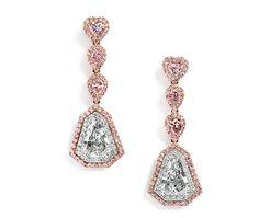 Argyle pink diamond earrings.