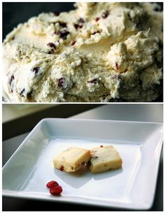 I revised an old recipe I had to freshen up the holiday classic of making shortbread cookies. I simply fell in love with the dough... ice...
