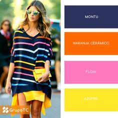 ¡SHOCK de color! Azul, naranja, amarillo, rosa y más. Un outfit muy de verano para disfrutar la temporada.