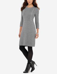 Textured Sweater Dress | Cable Knit Sweater Dress | THE LIMITED