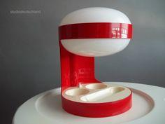 1967 Joe Colombo KD 29 Red Table Light Kartell Italy   eBay
