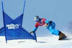DAY 16:  Benjamin Karl of Austria competes during the Snowboard Men's Parellel Slalom http://sports.yahoo.com/olympics