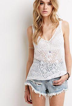 Crochet Sweater Top   Forever21 - 2052287879