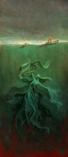 Nor the demons down under the sea, can ever dissever my soul from the soul  of the beautiful Annabel Lee.