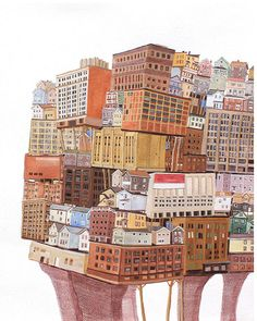 On my blog ... Amy Casey BLOCK  Architectural paintings