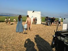 Poldark Season 2 Behind-the-scenes: Heida Reed, Kyle Soller, Eleanor Tomlinson, and Aidan Turner. Courtesy of Mammoth Screen for MASTERPIECE